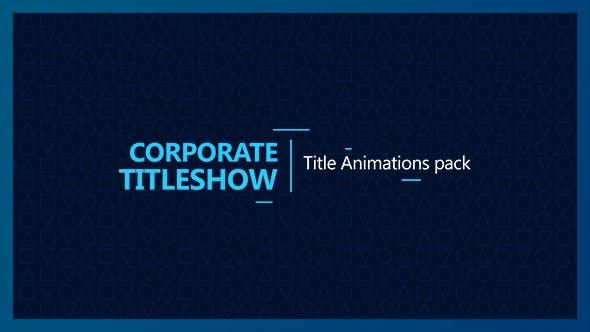 Videohive Corporate Titleshow 17362515