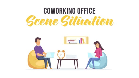 Videohive Coworking office - Scene Situation 28479190
