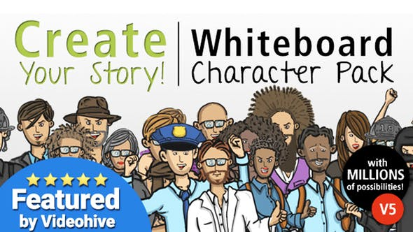Videohive Create Your Story Whiteboard Character Pack 5833338