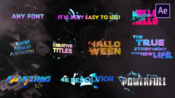 Videohive Creative Colorful Titles 27020559