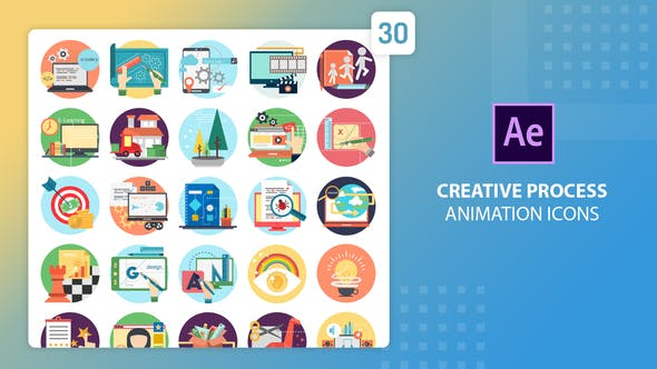 Videohive Creative Process Animation Icons 27541664
