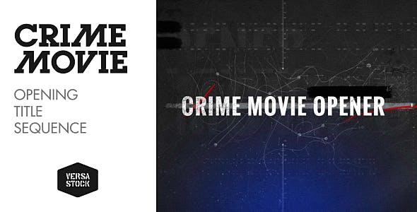 Videohive Crime Movie Opener 16829871