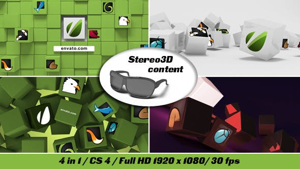 Videohive Cubes Stereo 3D 5004553