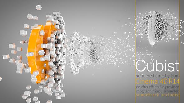 Videohive Cubist C4D Logo Animation 8543004