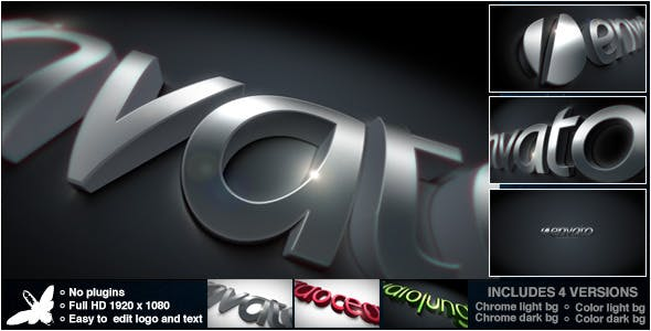 Videohive Curved Chrome Logo 4483527