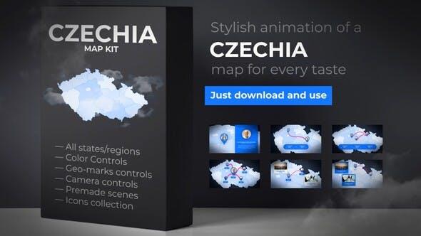 Videohive Czech Republic Map - Czechia Map Kit 26876634