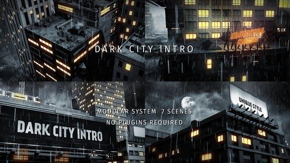 Videohive Dark City Intro 22912627