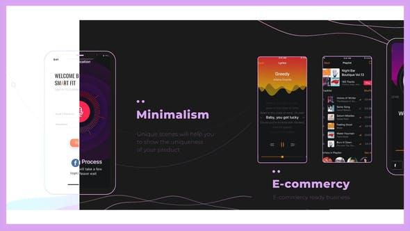 Videohive Dark - Light App Promo Minimalism Showreel 26011660