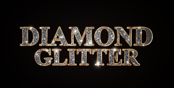 Videohive Diamond Glitter Titles 7576415