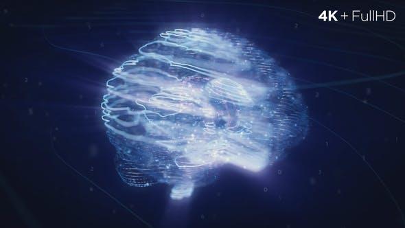 Videohive Digital AI Brain Logo Reveal 23270190