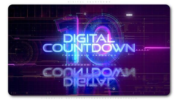 Videohive Digital Countdown 23709123