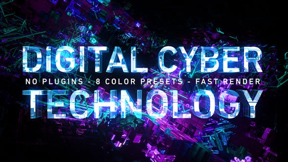 Videohive Digital Cyber Technology Logo Reveal 8 Color Presets 26624926