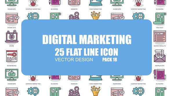 Videohive Digital Marketing - Flat Animation Icons 23381230