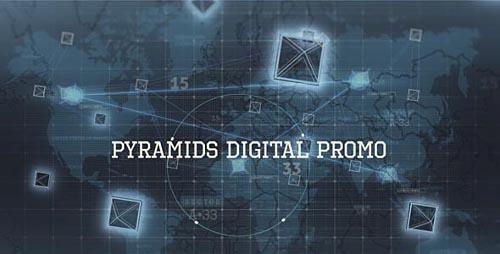 Videohive Digital Pyramid Promo Video 19749435