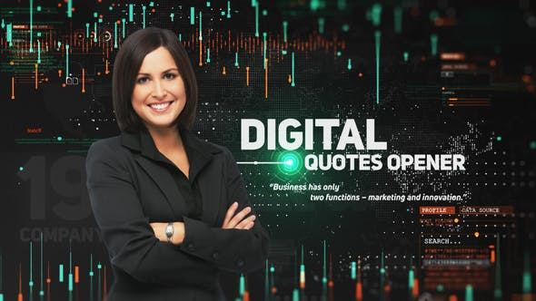 Videohive Digital Quotes Opener 22955631