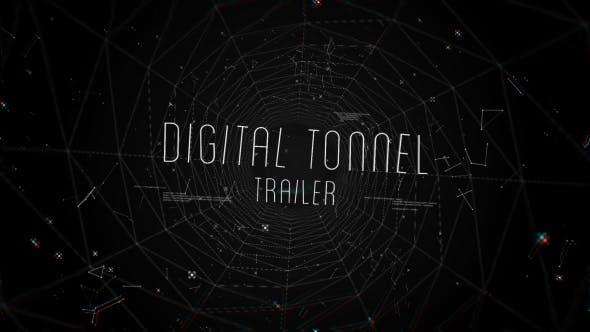 Videohive Digital Tonnel Trailer 15095511