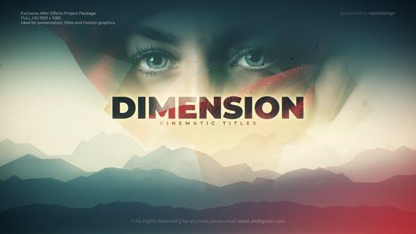 Videohive Dimension Cinematic title 28331521
