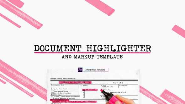 Videohive Document Highlighter 22144983