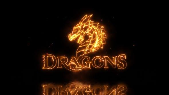 Videohive Dragon Fire Logo 22481472