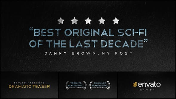 Videohive Dramatic Teaser Trailer 13288556