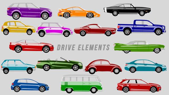 Videohive Drive Elements 21624301