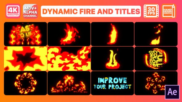 Videohive Dynamic Fire And Titles 26785522