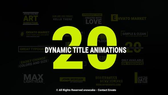 Videohive Dynamic Titles 22889048