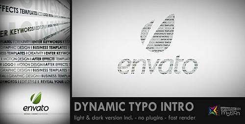 Videohive Dynamic Typo Intro