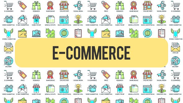 Videohive E - Commerce - 30 Animated Icons 21298249