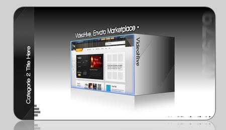 Videohive EUROPA 3D BOX Corporate Black and White Showcase 81917