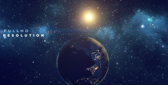 Videohive Earth Planet Title 21532074