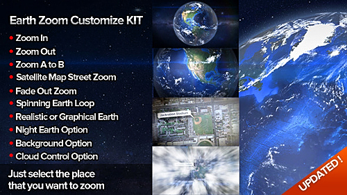 Videohive Earth Zoom Customize Kit 4 6451983