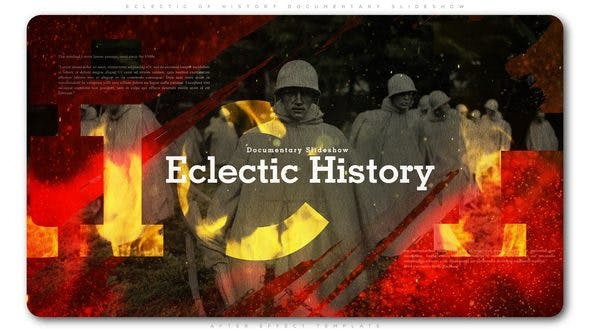 Videohive Eclectic of History Documentary Slideshow 23067872