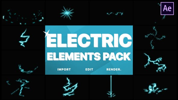 Videohive Electric Elements 21667781