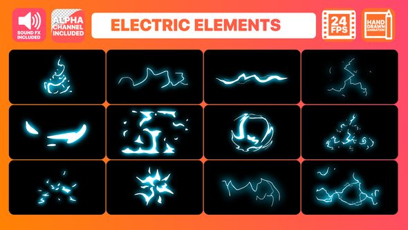 Videohive Electric Elements Pack 21970097