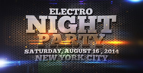 Videohive Electro Night Party 7836794