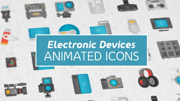 Videohive Electronic Devices Modern Flat Animated Icons 26863959