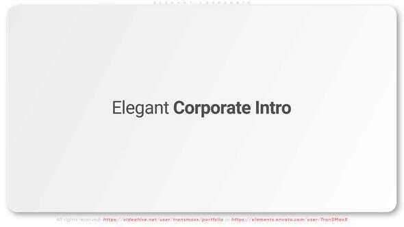 Videohive Elegant Corporate Intro 28398076