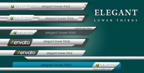 Videohive Elegant Lower Thirds 2656502
