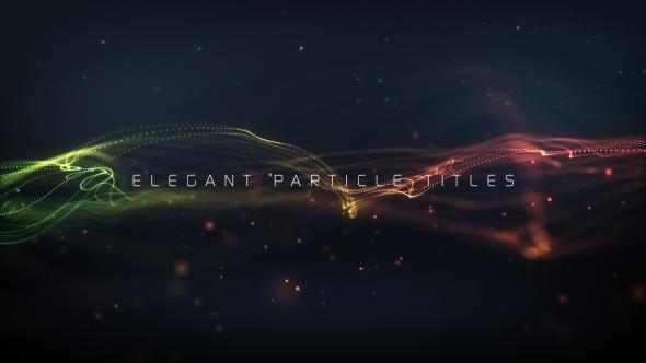 Videohive Elegant Particle Titles 20159683