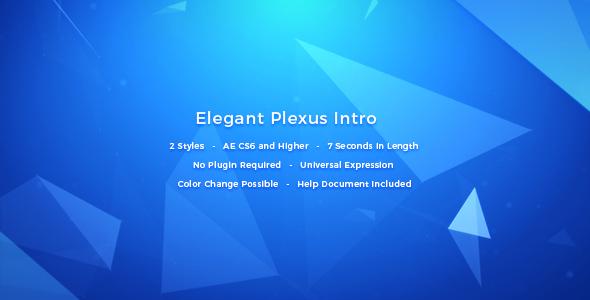 Videohive Elegant Plexus Intro 16131463