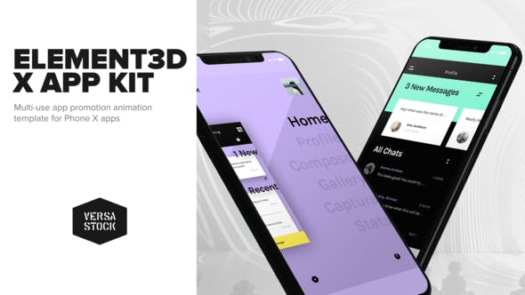 Videohive Element3D X App Kit Promotion 22059570