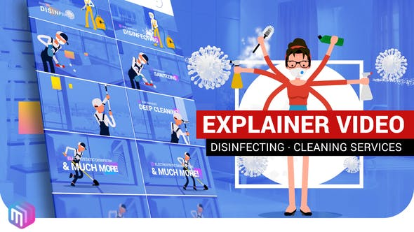 Videohive Explainer Video Disinfection Cleaning services 26675100