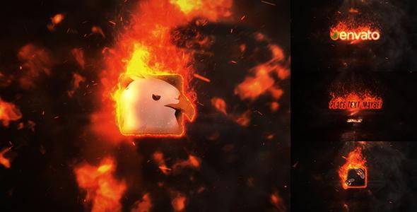 Videohive Exploding Burning Logo Reveal 19524212