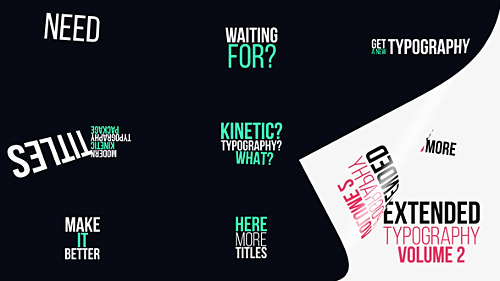 Videohive Extended Typography Vol.2 20175254