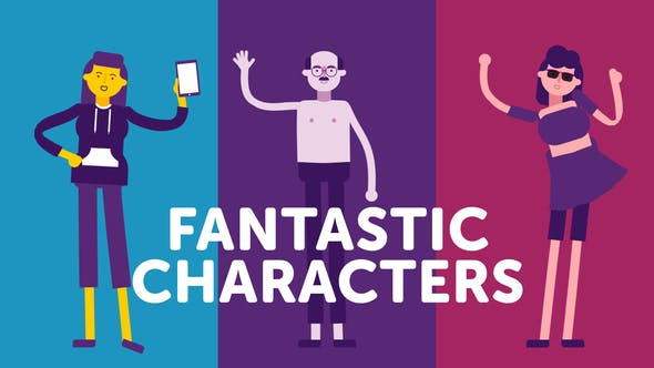 Videohive Fantastic Characters - for explainer animations 24659186