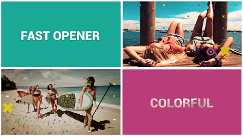 Videohive Fast Colorful Opener