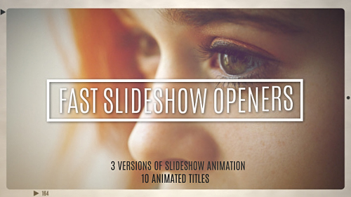 Videohive Fast Slideshow Openers + 10 Titles