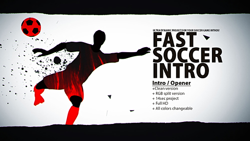 Videohive Fast Soccer Intro 22934416
