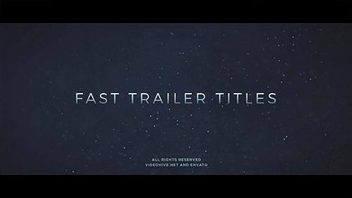 Videohive Fast Trailer Teaser 19579243
